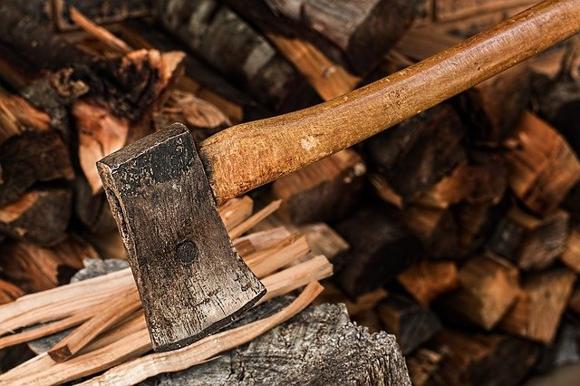 Splitting and Stacking Firewood